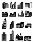 Building Icons Set royalty free stock photo