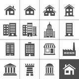 Buildings Icons Stock Photo