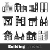 Building Icons Set Royalty Free Stock Images