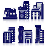 Building Icons Set. Vector illustration. Simplus series Royalty Free Stock Photography