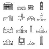 Building icons set vector illustration Stock Photo