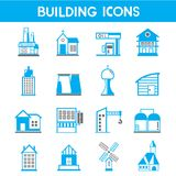 Building icons Stock Photos