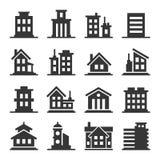 Building Icons Set Stock Photos