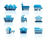 Building icons. Vector illustration royalty free illustration