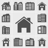 Building Icons Vector illustration series Stock Images