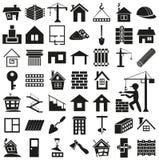 Building icons on white Stock Photos