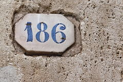 Building Identification Number Stock Image