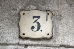 Building Identification Number. Photo of Building Identification Number made in the late Summer time in Spain, 2013 Royalty Free Stock Photography