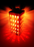 Building Illumination. Red 3d building flash, vertical Stock Images