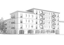 Building illustration Royalty Free Stock Photos