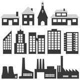 Building Illustrations. Vector collection of building illustrations Stock Photos