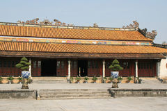 A building in the Imperial City of Hue, Vietnam Royalty Free Stock Photo