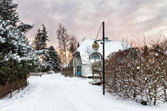 Building In Wiek In Winter Stock Image