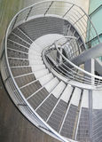 Building indoor of metal spiral staircase Royalty Free Stock Photos