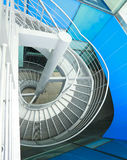 Building indoor of metal spiral staircase Stock Images