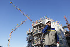 Building industry and workers Royalty Free Stock Photography