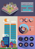 Building infographic vector illustration Stock Image