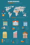 Building infographics Stock Image