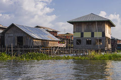 Building on the Inle lake royalty free stock image