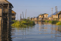 Building on the Inle lake royalty free stock photos