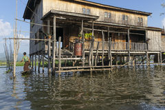 Building on the Inle lake Stock Images