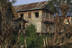 Building on the Inle lake royalty free stock images