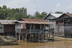 Building on the Inle lake royalty free stock photo