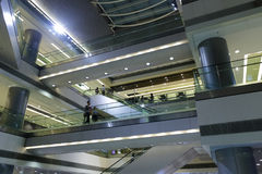 Building inside escalator Royalty Free Stock Image