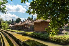 Building inside Pura Taman Ayun in Bali, Indonesia. Building inside Pura Taman Ayun in clear sky day in Bali, Indonesia Royalty Free Stock Images