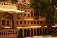 Building inside Udaipur fort royalty free stock photo