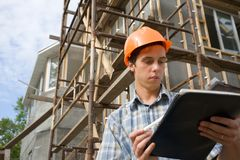 Building inspector Royalty Free Stock Photography