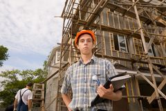 Building inspector Stock Photo