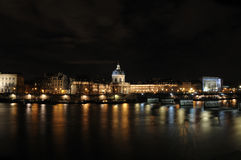 Building of institut de France in Paris. France at night Stock Photography