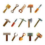 Building Instrument Icons Set Stock Image