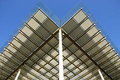 Building integrated photovoltaics. Shading system royalty free stock photography