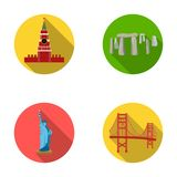 Building, interesting, place, coliseum .Countries country set collection icons in flat style vector symbol stock Royalty Free Stock Images