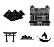 Building, interesting, place, palace .Countries country set collection icons in black style vector symbol stock Stock Photo