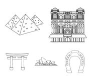 Building, interesting, place, palace .Countries country set collection icons in outline style vector symbol stock Royalty Free Stock Photo