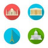 Building, interesting, place, tower .Countries country set collection icons in flat style vector symbol stock Royalty Free Stock Photos