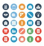 Building Isolated Vector Icons set that can be easily modified or edit. stock illustration
