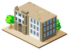 Building Isometric Royalty Free Stock Photography