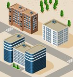 Building Isometric Stock Image