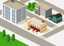 Building Isometric Royalty Free Stock Images