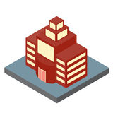 The building in an isometric projection. Royalty Free Stock Photography