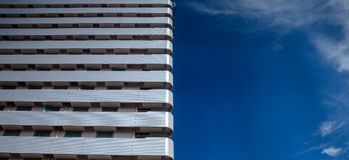 Building in Japan Osaka. Blue sky royalty free stock image