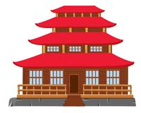 Building of the japanese architecture Stock Image