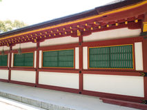 Building within The Japanese shrine Royalty Free Stock Photo