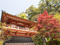 Building within The Japanese shrine in Kyushu Stock Photography