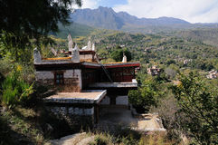 Building of Jiaju Tibetan Village Stock Image