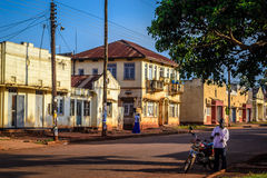 Building. Jinja, Uganda - September 2015 - A street that used to be occupied by Indian settlers in Uganda before President Iddi Amin expelled them in the 1970s Stock Image